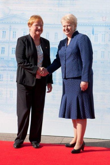 Suomijos prezidentė Tarja Halonen ir Lietuvos prezidentė Dalia Grybauskaitė