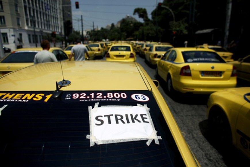 Taksi vairuotojų streikas Graikijoje