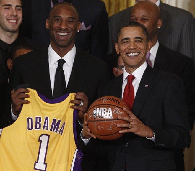 Kobe Bryantas ir JAV prezidentas Barackas Obama