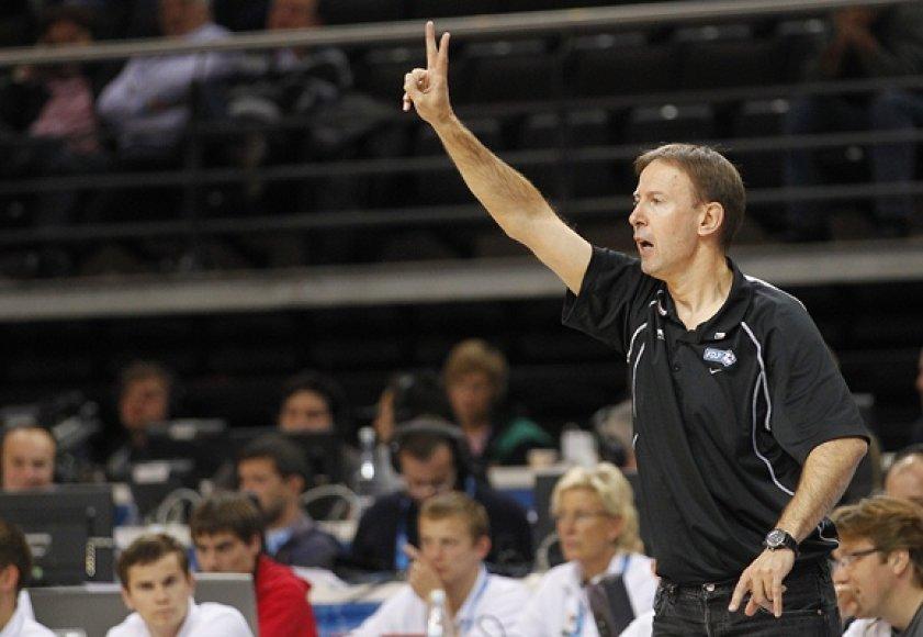 Prancūzijos krepšinio rinktinės treneris Vincentas Colletas