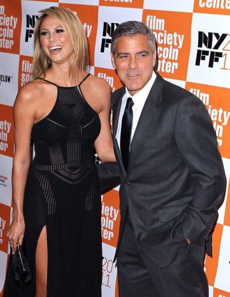 Stacy Keibler ir George'as Clooney