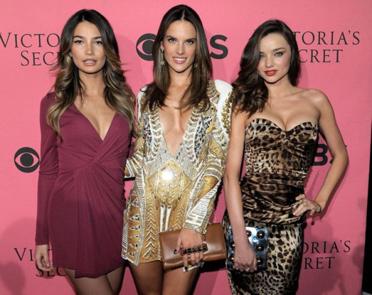 Lily Aldridge, Alessandra Ambrosio ir Miranda Kerr
