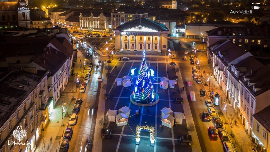 Kalėdų eglė Vilniaus rotušės aikštėje