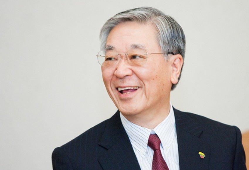 """Hitachi"" prezidentas Hiroakis Nakanishis"