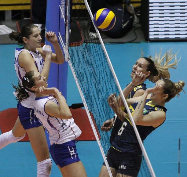 Rungtynių tarp Rusijos ir Brazilijos akimirka