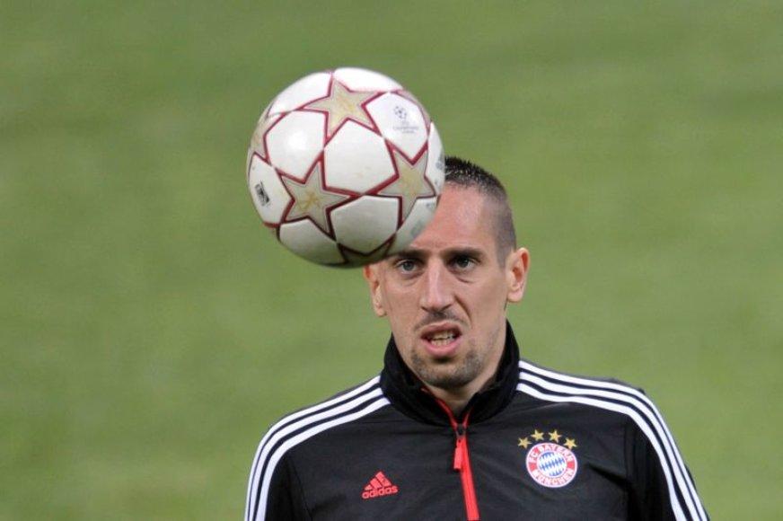 Franckas Ribery ruošiasi rungtynėms
