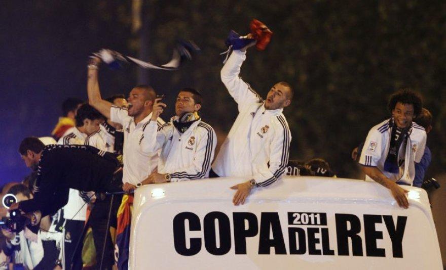 Triumfuojantys Madrido futbolininkai