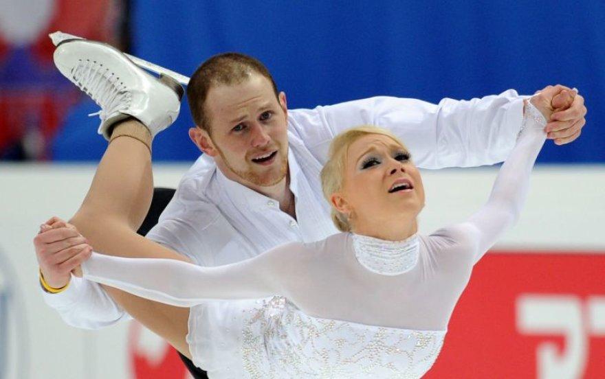 C.Yankowskas ir J.Coughlinas pasaulio dailiojo čiuožimo čempionate užėmė 6-tą vietą.
