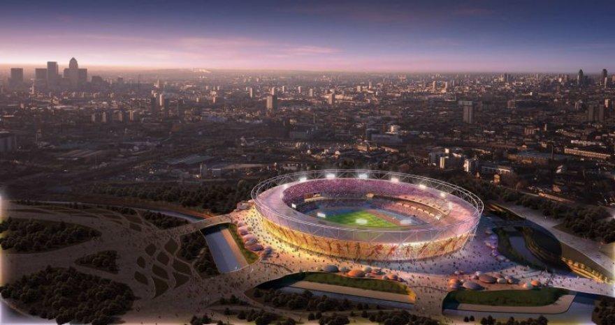 Kompiuterinis olimpinio Londono stadiono vaizdas