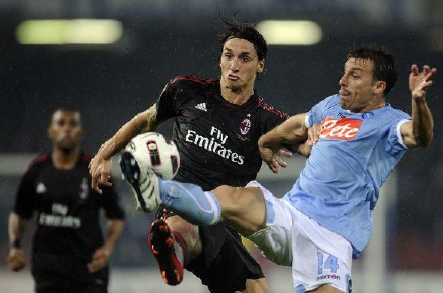 Milano futbolininkai iškovojo penktą pergalę