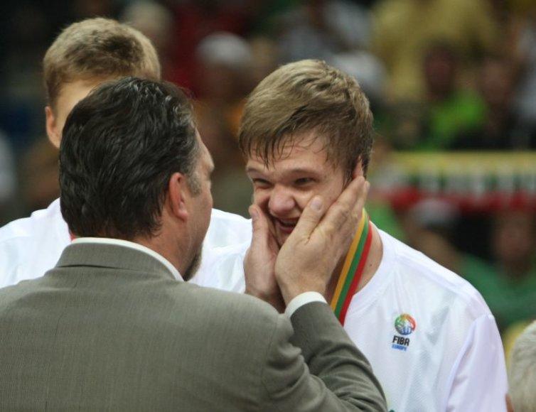 Tautvydas Sabonis praėjusiais metais tapo Europos čempionu.