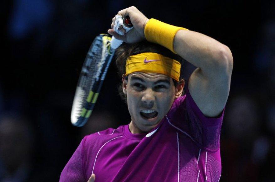 R.Nadalis – pirmasis turnyro Londone finalininkas