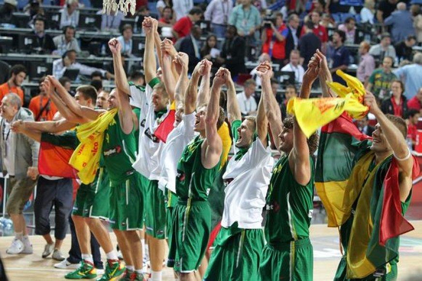 Lietuvos krepšinio rinktinė dėl olimpinio kelialapio kausis Europos čempionate.