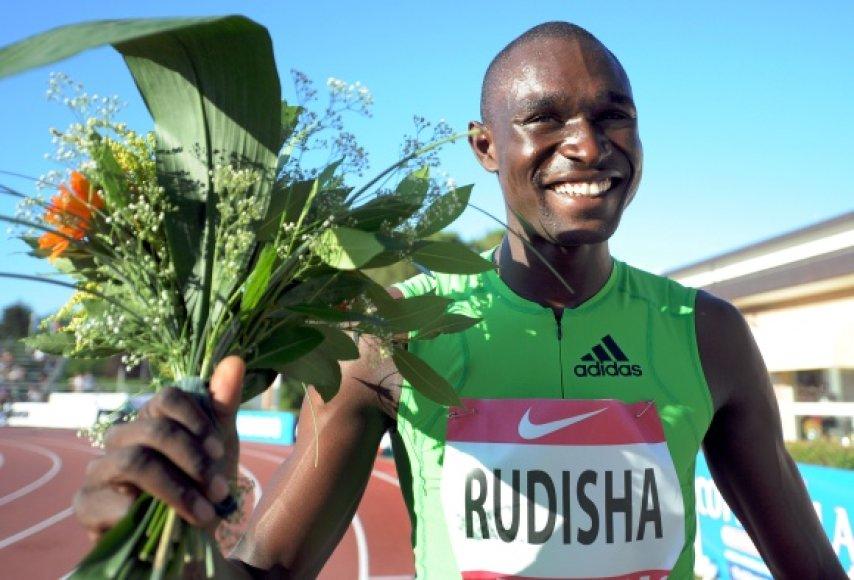 D.Rudisha šiemet pagerino 800 m bėgimo pasaulio rekordą