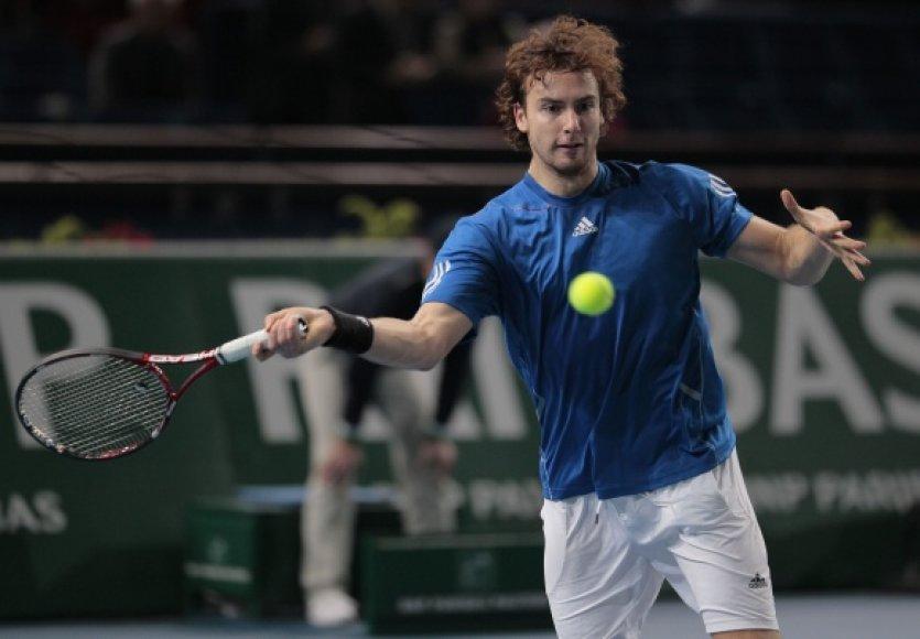 Latvijos tenisininkas Ernestas Gulbis