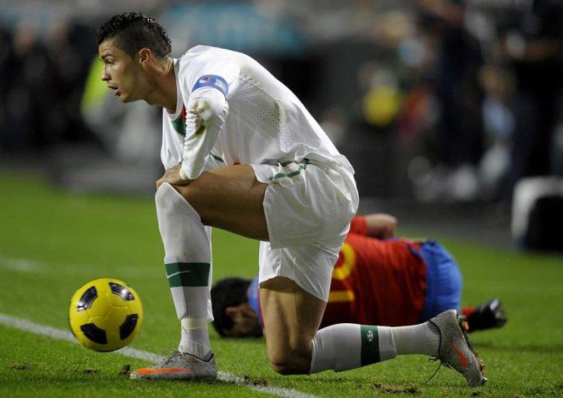 C.Ronaldo pelnė pirmą susitikimo įvartį