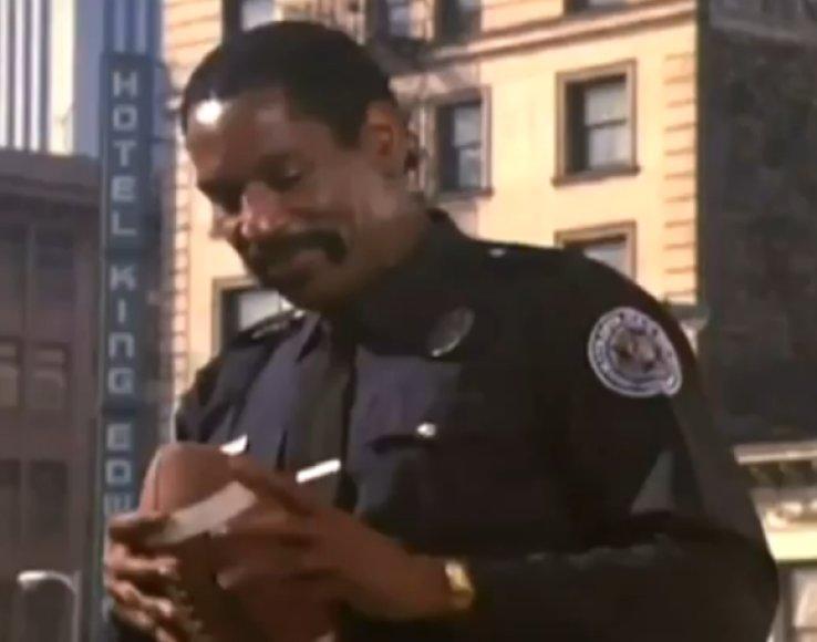 """Haitaueris tapo neatsiejamu """"Policijos akademija"""" filmų serijos veikėju."""
