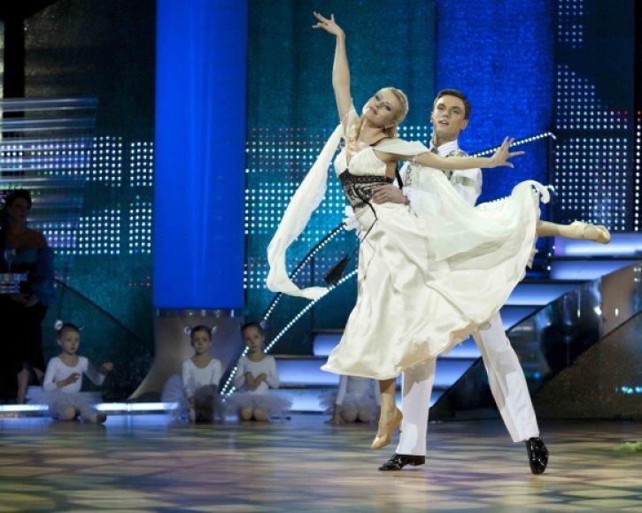 Rūta Mikelkevičiūtė šokių projekte.