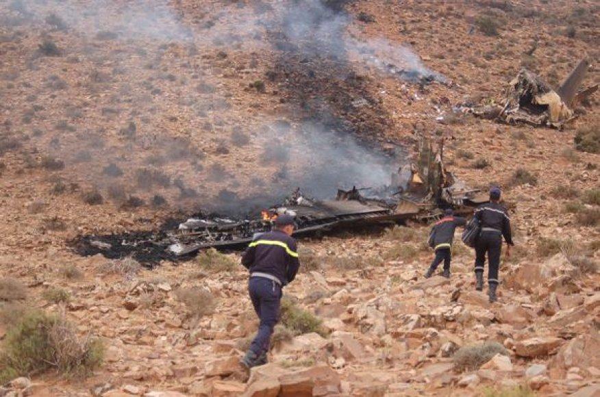 Maroke sudužo karinis lėktuvas