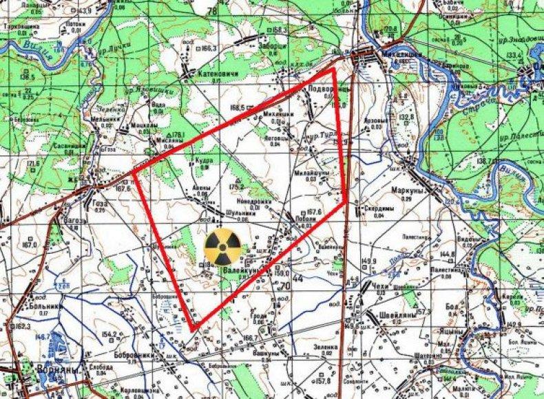 Rusiška atominė elektrinė statoma kaimų senais lietuviškais pavadinimais apsuptyje.