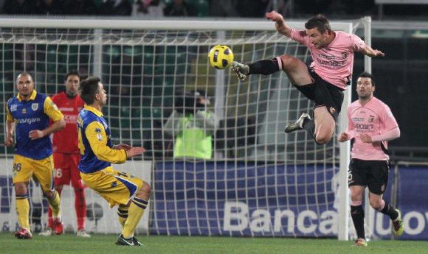 """""""Palermo"""" – """"Parma"""" rungtynių akimirka"""