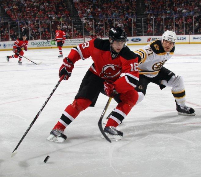 """Devils"" – ""Bruins"" rungtynių akimirka"