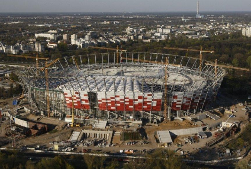 Nacionalinio stadiono Varšuvoje statybos