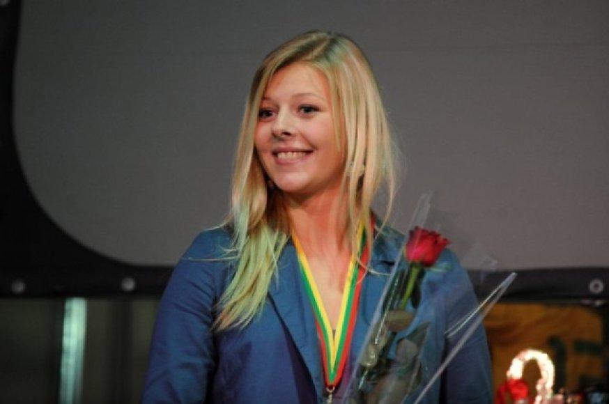 Geriausia A lygos vartininkė Greta Kaselytė