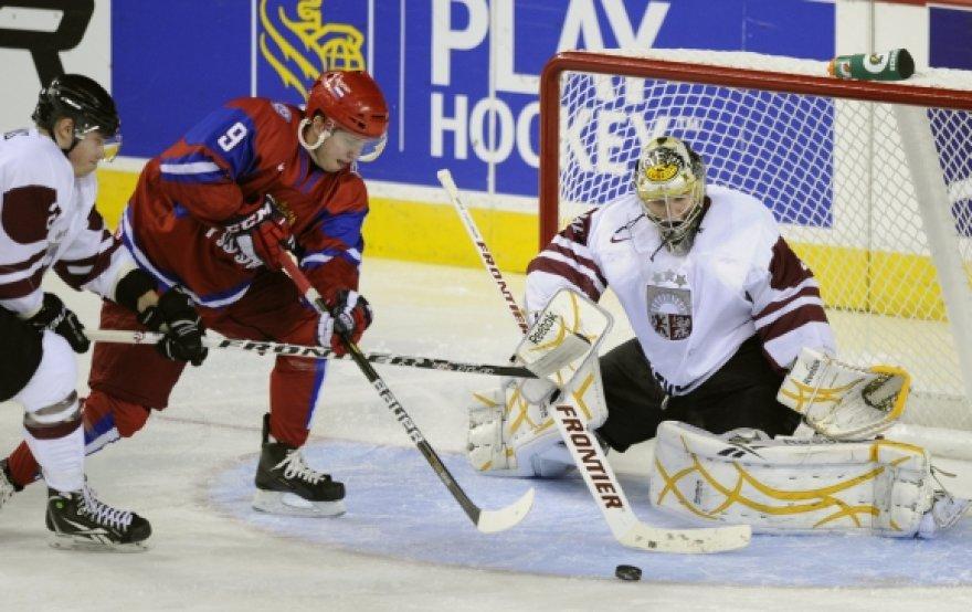 Latvijos ir Rusijos U-20 rinktinių mačas