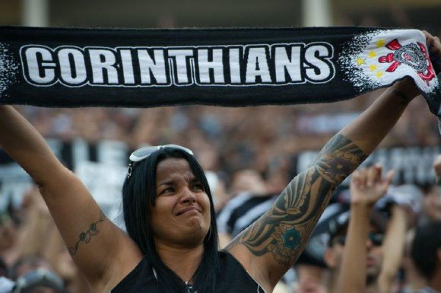 """Švenčiantys """"Corinthians"""" sirgaliai"""