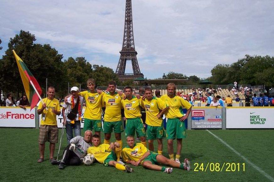 Lietuvių komanda Pasaulio benamių čempionate