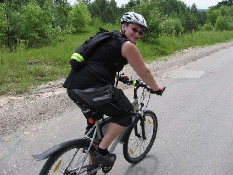 E.Urbaitis iš namų Taikos prospekte šeštadienį išvažiavo dviračiu.