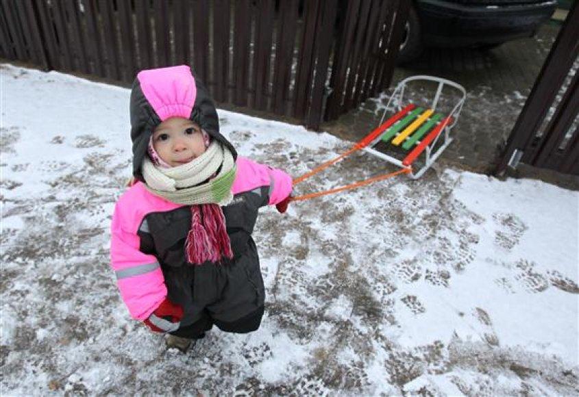 Kaune žiemos pramogoms sniego per mažai.