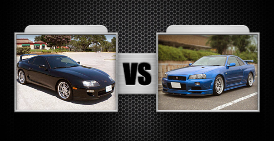"Kova Nr. 9 ""Toyota Supra"" ir ""Nissan Skyline GTR"""