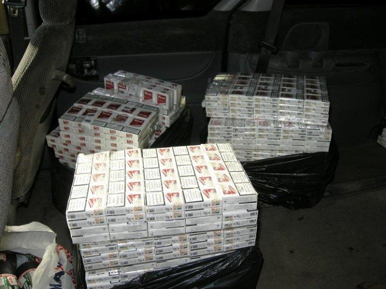 Marijampolėje aptiktos kontrabandinės cigaretės