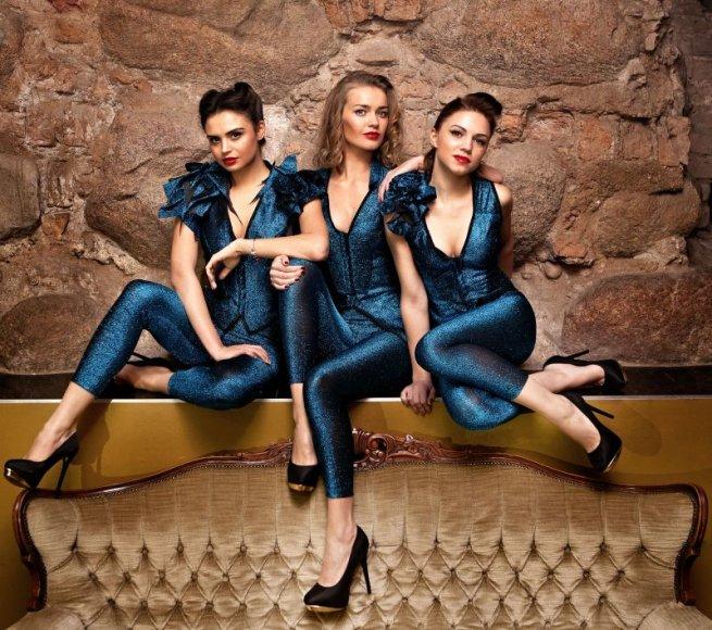 """""""Pinup girls"""" kolektyvas (iš kairės): Ieva, Viktorija ir naujoji grupės narė Agota."""