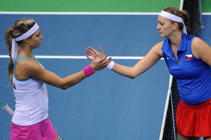 Marija Kirilenko ir Petra Kvitova