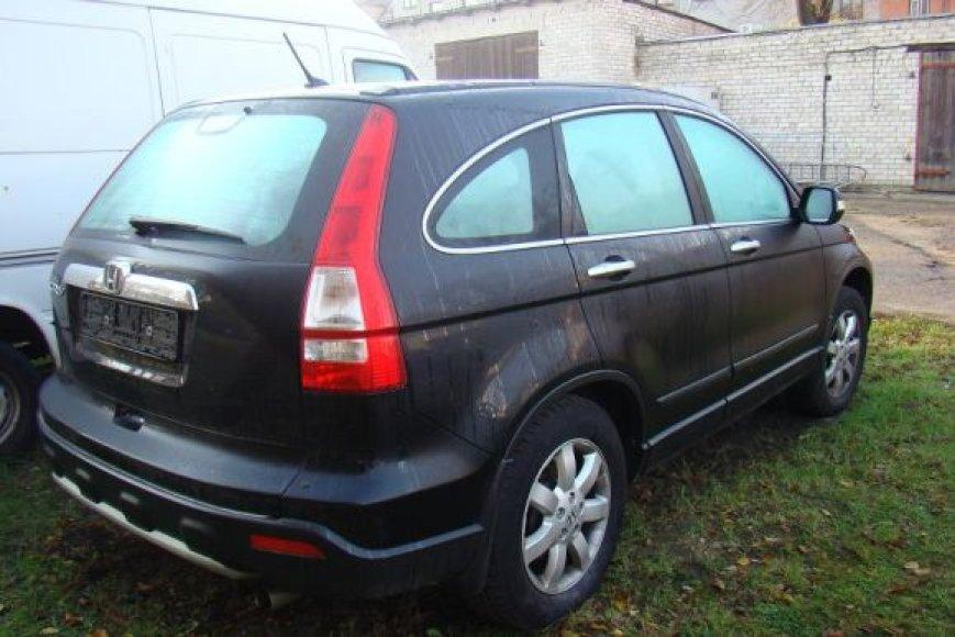 Šį automobilį pargabenusiam kauniečiui pareikšti įtarimai.