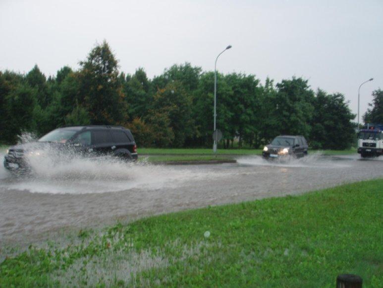Šeštadienio potvynis Vilniuje