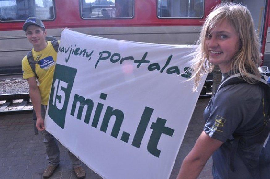 Savo nuotykiais alpinistai pažadėjo dalintis su 15min skaitytojais