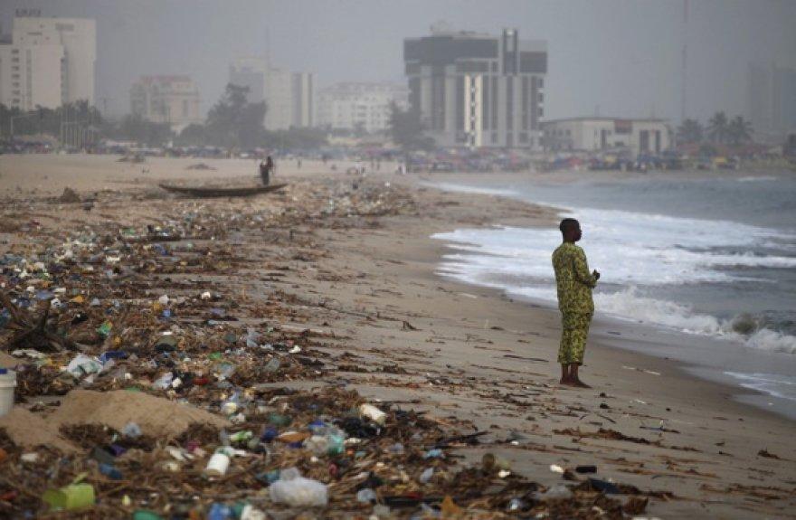 Vandenyno pakrantė Lagose