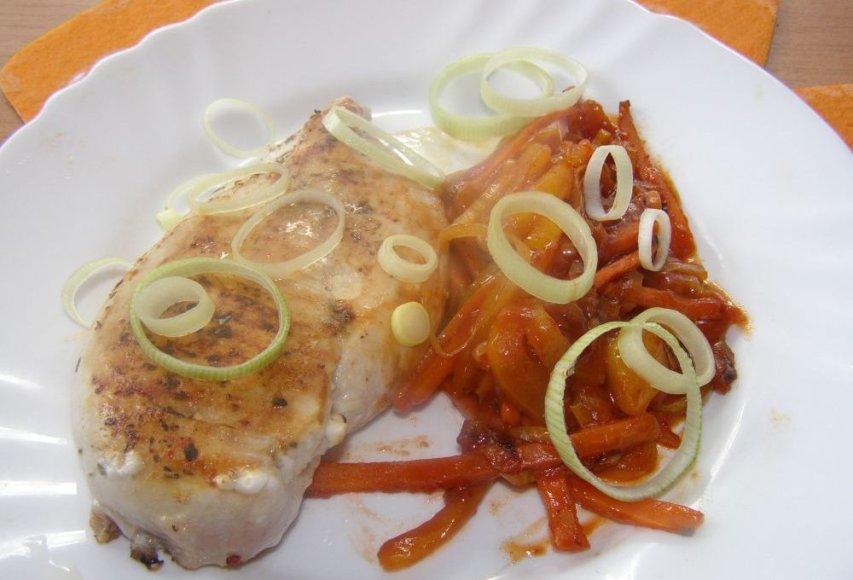 Pikantiškas vištienos steikas