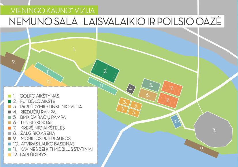 """Pabudinkime Nemuno salą! Tokį tikslą išsikėlę visuomeninės organizacijos """"Vieningas Kaunas"""" nariai"""