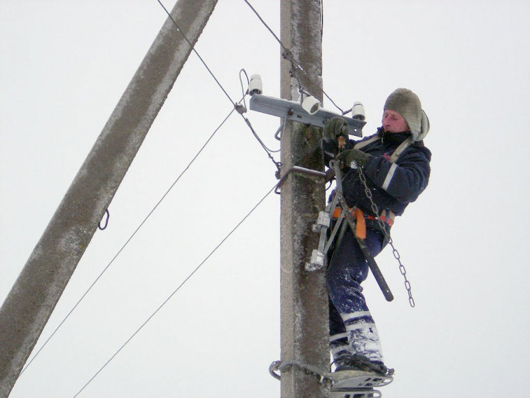 Taisoma elektros perdavimo linija