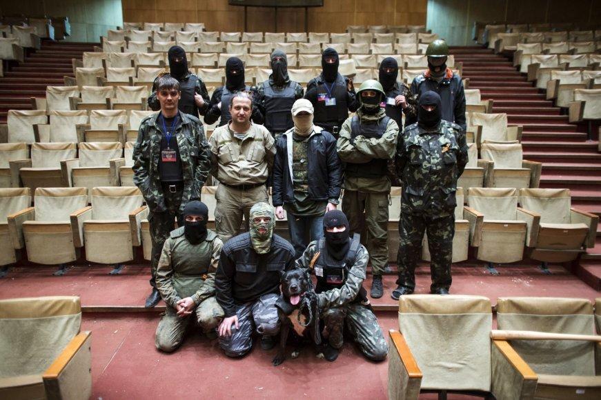 Prorusiški separatistai Donecko vyriausybės pastate