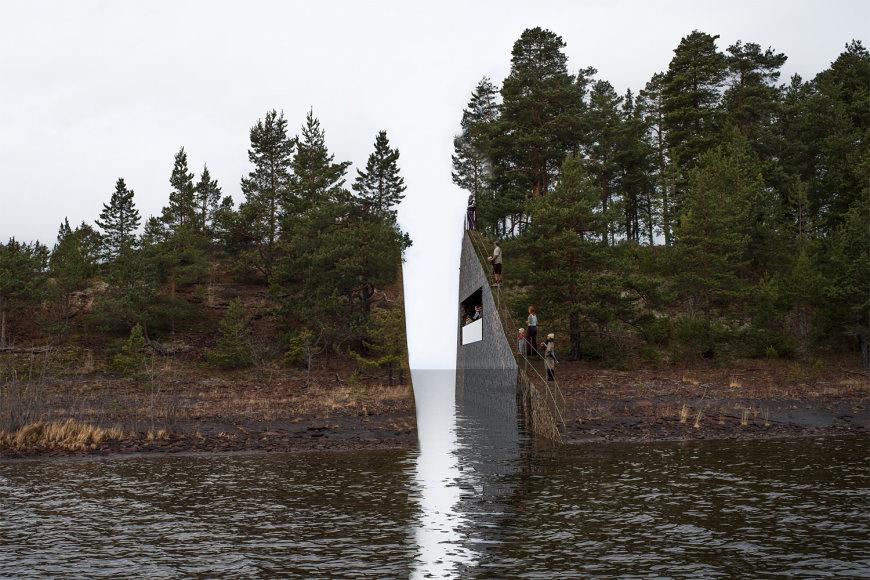 """Jono Dahlbergo paminklas """"Atminties žaizda"""""""