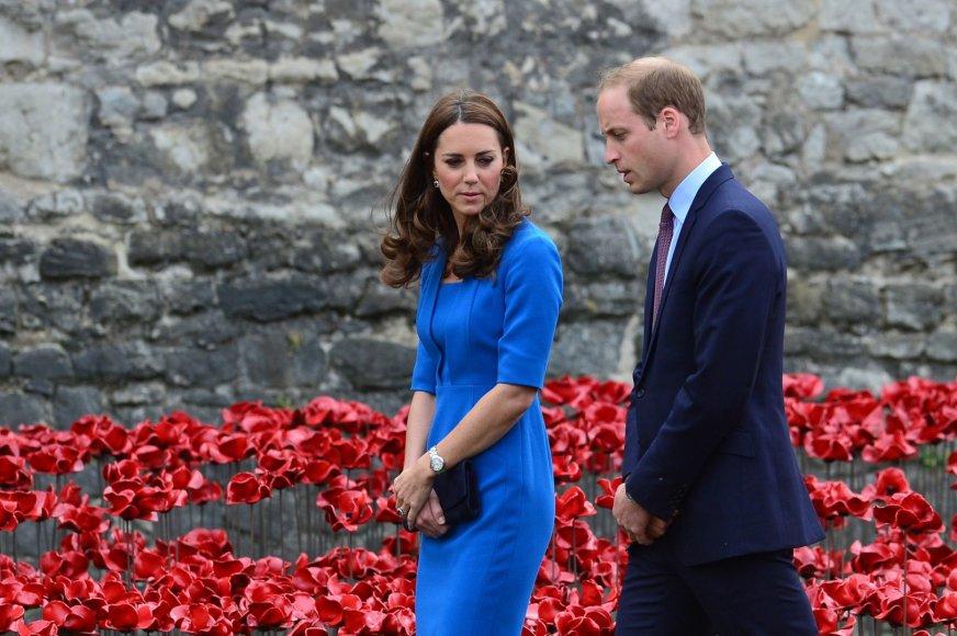 Didžiosios Britanijos princas Williamas ir Kembridžo hercogienė Catherine