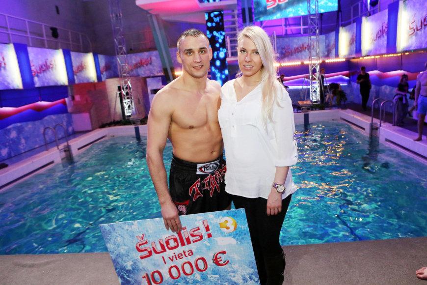 Remigijus Morkevičius su mylimąja Raimonda