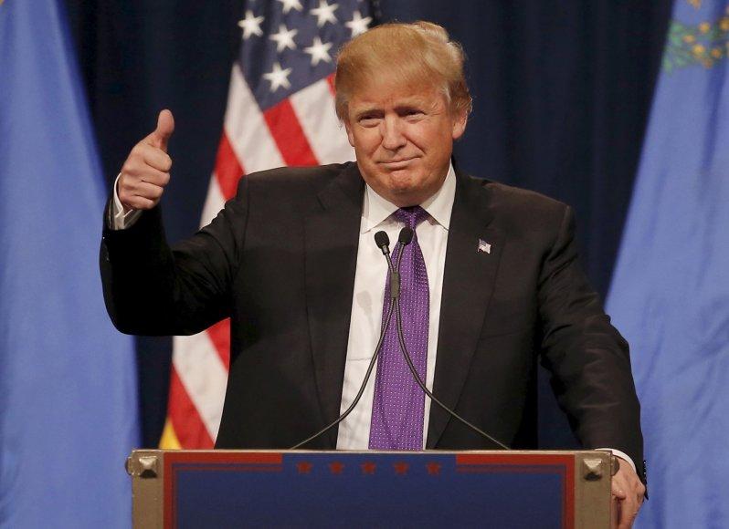 Trumpas laimėjo balsavimą respublikonų sueigose Nevadoje
