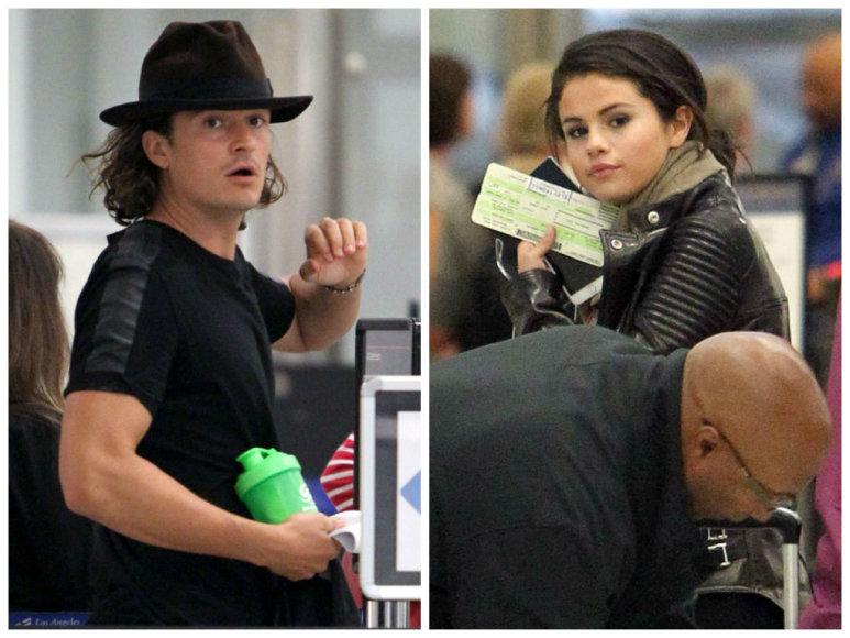 Orlando Bloomas ir Selena Gomez